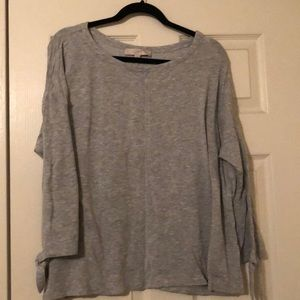 Long sleeve with tie gray tunic